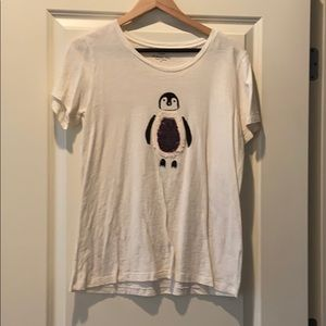 J Crew Factory Sequined Penguin Shirt